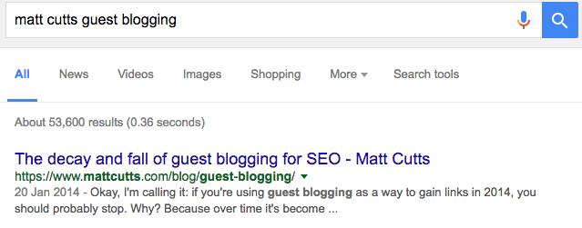 matt cutts guest blogging Google Search