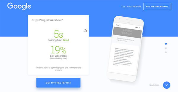 Test Your Mobile Website Speed and Performance Google