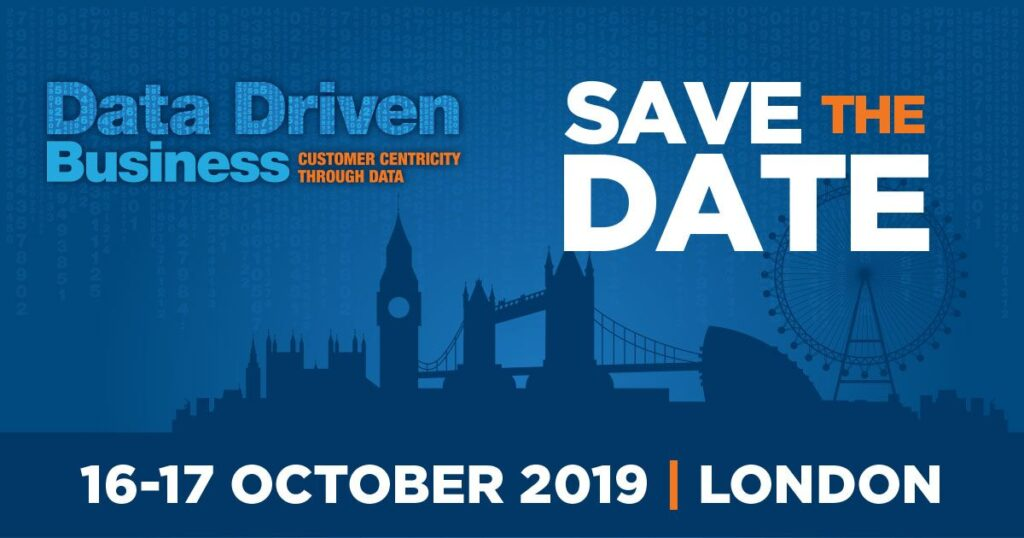 Data Driven Business London conference on 16-17 October, 2019
