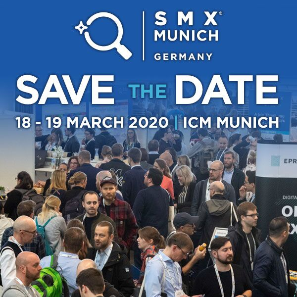 Save the date Munich SMX 2020 code ANGLUX&MUN-SMX for 15% off
